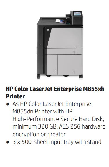 HP Color LaserJet Enterprise M855xh A3