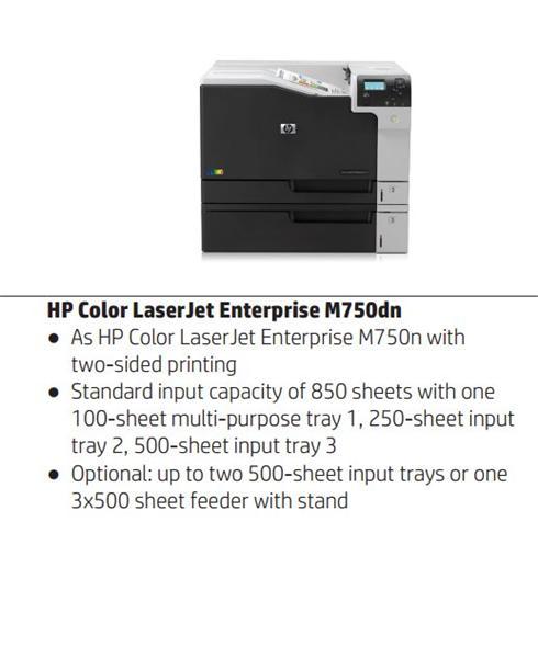 HP Color LaserJet Enterprise M750dn A3