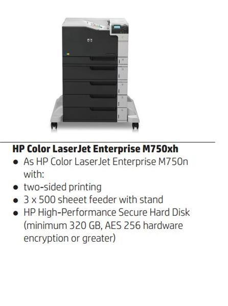 HP Color LaserJet Enterprise M750xh A3