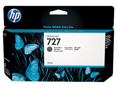 HP 727 130-ml Mate Black Ink Cartridge