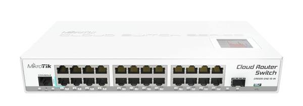 MIKROTIK RouterBOARD Cloud Router Switch CRS125-24G-1S-IN + L5 (600MHz; 128MB RAM; 24x GLAN; 1x SFP; USB) desktop
