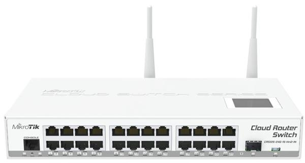MIKROTIK RouterBOARD Cloud Router Switch CRS125-24G-1S-2HnD-IN (600MHz; 128MB RAM; 24x GLAN; 1x 2GHz 802.11b/g/n; 1x SFP