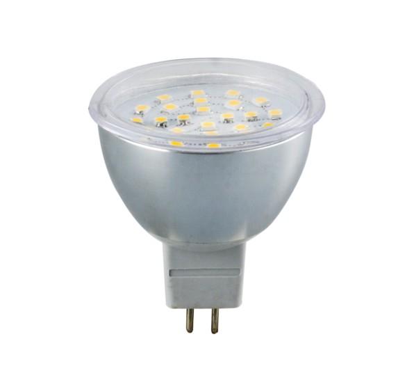 CNS-E LED žiarovka GU5.3 bodová 24x3528D SMD, 3,5W, 400 lm, 12V, biela