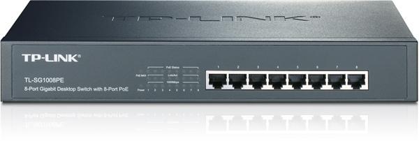 TP-LINK TL-SG1008PE 8 x 10/100/1000 Mbs, 8 x POE port