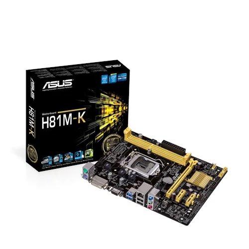 ASUS H81M-K soc.1150 H81 DDR3 mATX 1xPCIe USB3 GL iG D-Sub DVI