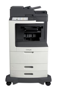 Lexmark MX812dpe, mono laser MFP, 66ppm, 1024MB, 800MHz, USB, GLan, Fax
