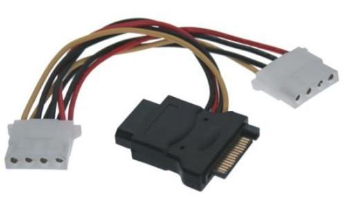 Kábel Y napájaci k HDD SATA na 3x 5,25