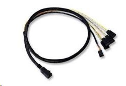 LSI internal cable 1.0 m Mini-SAS HD (SFF-8643) to 4x SATA with sideband