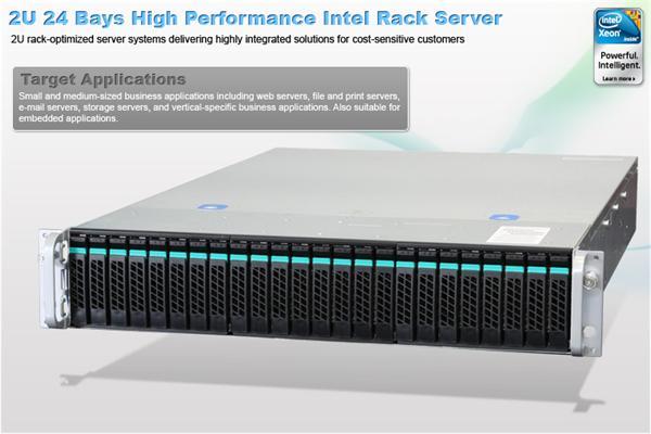 Intel® 2U Server System R2224GZ4GC (Grizzly Pass) S2600GZ4 board 2U 24xHS 2x750W