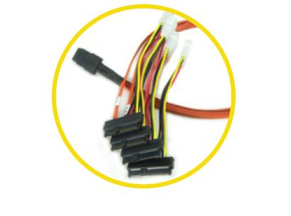 LSI AMCC SAS BREAKOUT CABLE 0,6M miniSAS-4x SAS+power