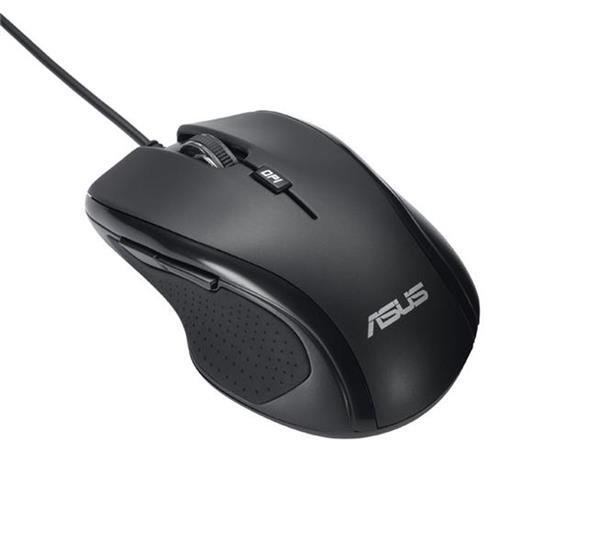 ASUS MOUSE UX300 black - optická drôtová myš; čierna