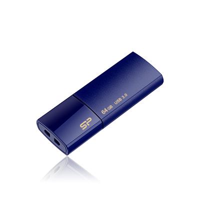 8 GB . USB 3.0 kľúč ..... Silicon Power Blaze B05, modrý