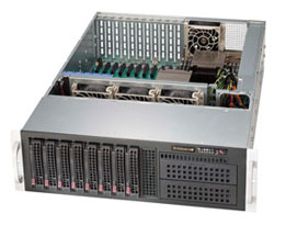 Supermicro® CSE-835XTQ-R982B 3U chassis redundant 11 cards support