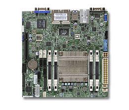 Supermicro MotherboardminiITX MB Atom C2758 8-core (20W TDP), 4x DDR3 ECC SODIMM, 2xSATA3, 4xSATA2,1xPCI-E x8, 4xLAN, IP