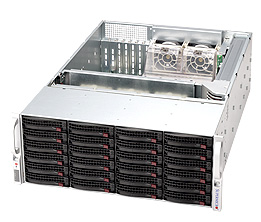 Supermicro®CSE-846BE16-R1K28B 24x 3,5