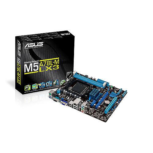 ASUS M5A78L-M LX3 soc.AM3+ 760 DDR3 mATX PCIe RAID D-Sub COM
