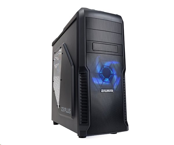 ZALMAN Z3 Plus, skrinka / case, ATX, priehľadný bok, bez zdroja, čierna