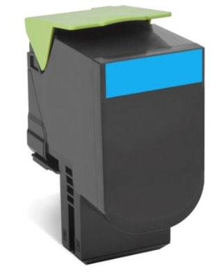 Lexmark 802HC CX410, CX510, Cyan High Yield Return Program Toner Cartridge 3k