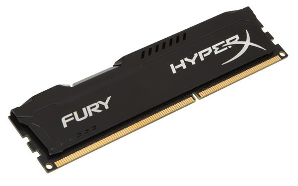 DDR 3.. 4GB . 1600MHz. CL10 Hyper X FURY Black Kingston