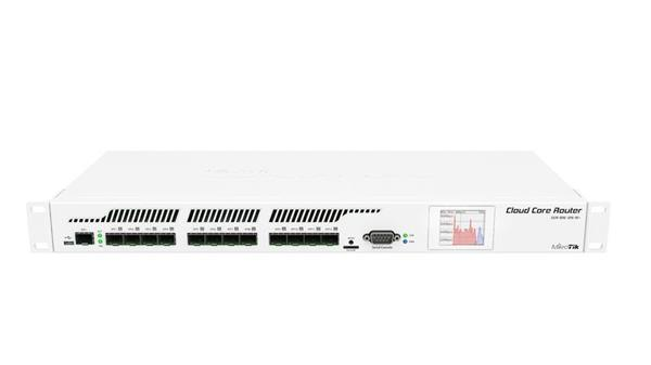 MIKROTIK RouterBOARD Cloud Core Router 1016-12S-1S+ + L6(1,2GHz, 2GB RAM, 12x SFP, 1x SFP+, USB) Dual PSU, rack