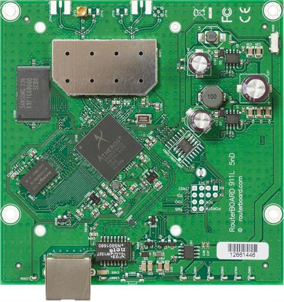 MIKROTIK RouterBOARD 911-5HN + L3 (600MHz; 64MB RAM; 1x LAN; 1x 5GHz 802.11an card)