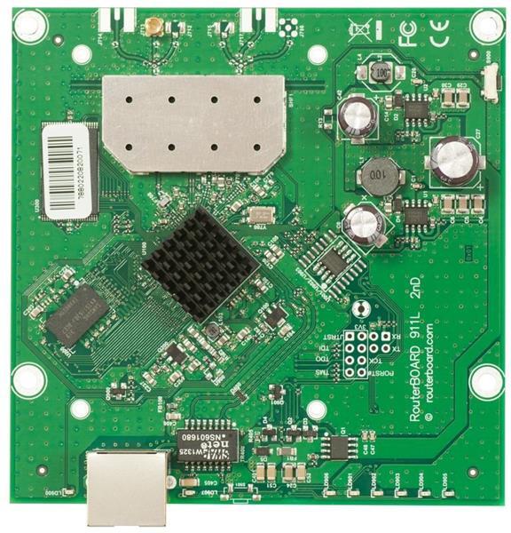 MIKROTIK RouterBOARD 911-2HN + L3 (600MHz; 64MB RAM; 1x LAN; 1x 2,4GHz 802.11n card)