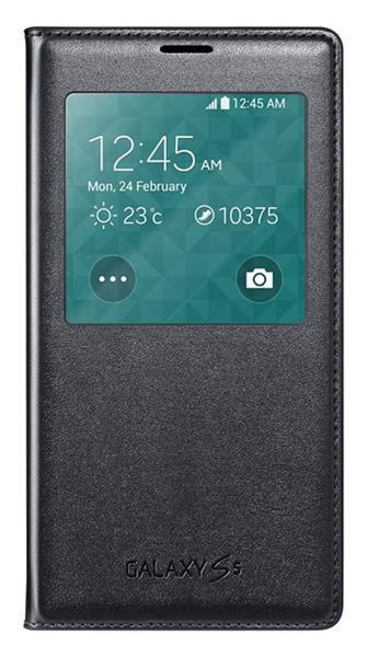 Samsung flipové púzdro s oknom pre Galaxy S5, Čierna
