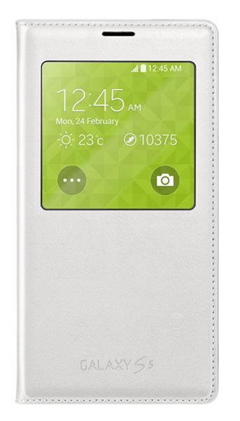 Samsung flipové púzdro s oknom pre Galaxy S5, Biele