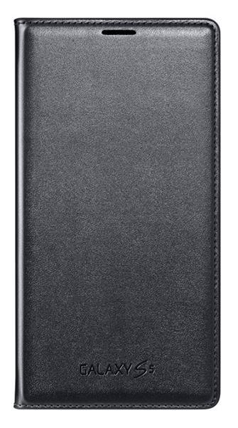 Samsung flipové púzdro s vreckom pre Galaxy S5, Čierna