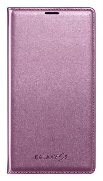 Samsung flipové púzdro s vreckom pre Galaxy S5, Ružová
