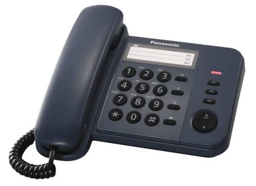Panasonic KX-TS520FXC jednolinkovy telefon / Modrý