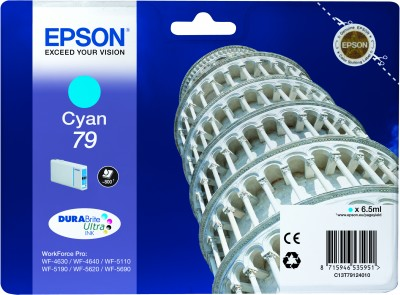 Epson atrament WF5000 series cyan L - 6.5ml