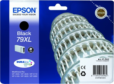 Epson atrament WF5000 series black XL - 41.8ml
