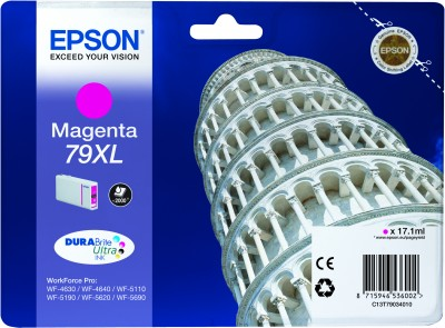 Epson atrament WF5000 series magenta XL - 17.1ml