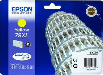 Epson atrament WF5000 series yellow XL - 17.1ml