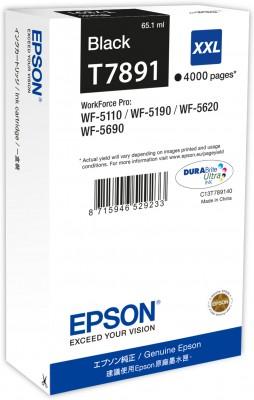 Epson atrament WF5000 series black XXL - 65.1ml