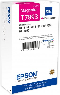 Epson atrament WF5000 series magenta XXL - 34.2ml