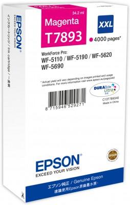 Epson atrament WF5000 series magenta XXL - 34.2ml