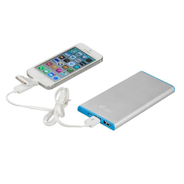 i-tec Power Bank METAL 8000 mAh Li-pol 3in1 cable