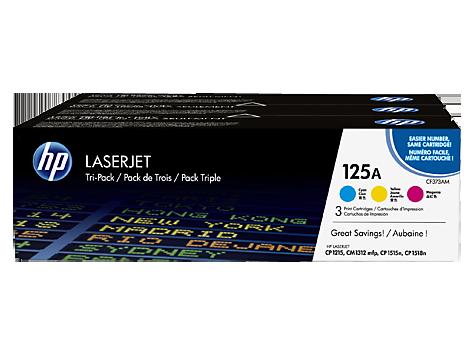 HP tonery HP125A Tri-pack C/M/Y