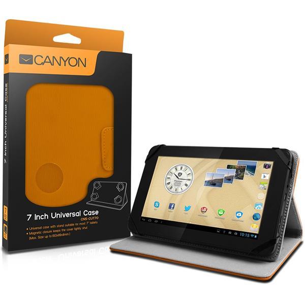 Canyon CNS-CUT7O univerz�lny obal/stojan pre 7�� tablet, oran�ov�