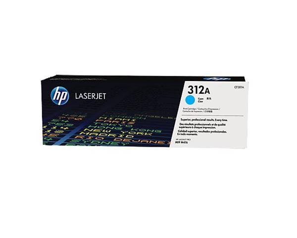 HP toner azúrová HP312A /vyťaženosť cca 2700str/