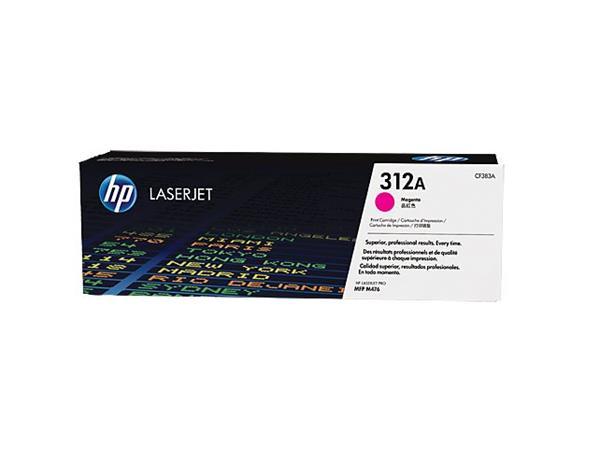 HP toner purpurová HP312A /vyťaženosť cca 2700str/
