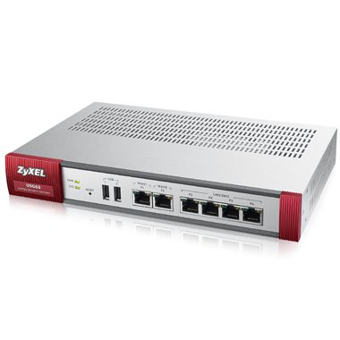 ZyXEL ZyWALL USG 60, Security UTM solution: Firewall, VPN: 20x IPSec/ 12x SSL (2 default ), 6x 1Gbps (4x LAN/DMZ, 2x WAN