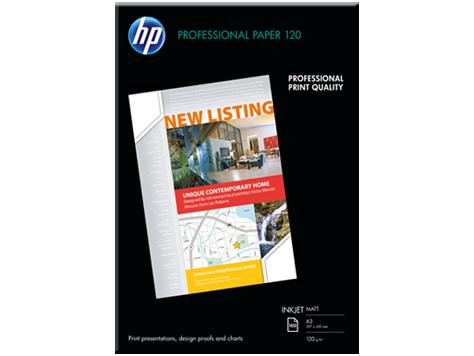 HP Profesionálny Inkjet Papier 120 matný, 120g/ m2, A4, 200 hr.