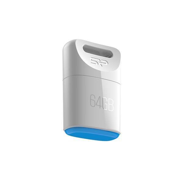 8 GB . USB kľúč ..... Silicon Power TOUCH T06, biely (odolný voči vode, prachu a nárazom)