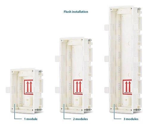 2N Helios IP Verso Krabice pro instalaci do zdi, 3 moduly