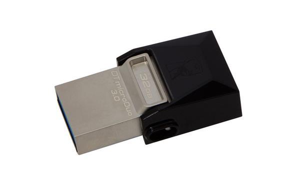32 GB . USB 3.0 klúč . Kingston DataTraveler MicroDuo, (microUSB, OTG) ( r70MB/s, w15MB/s )