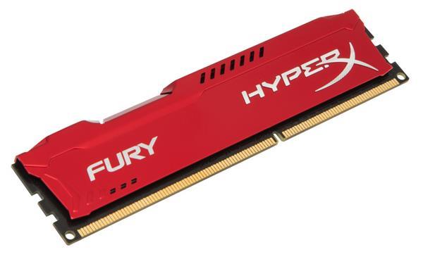 DDR 3.. 8GB . 1600MHz. CL10 Hyper X FURY Red Kingston