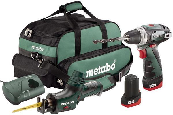 Metabo Combo Set 2,4 10,8 V -, Aku skrutkovač + Aku chvostová píla + taška